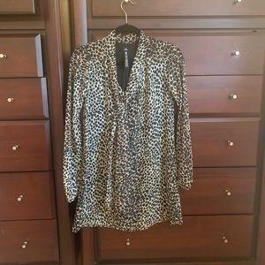 Design Lab Lord & Taylor Cheetah Print Dress